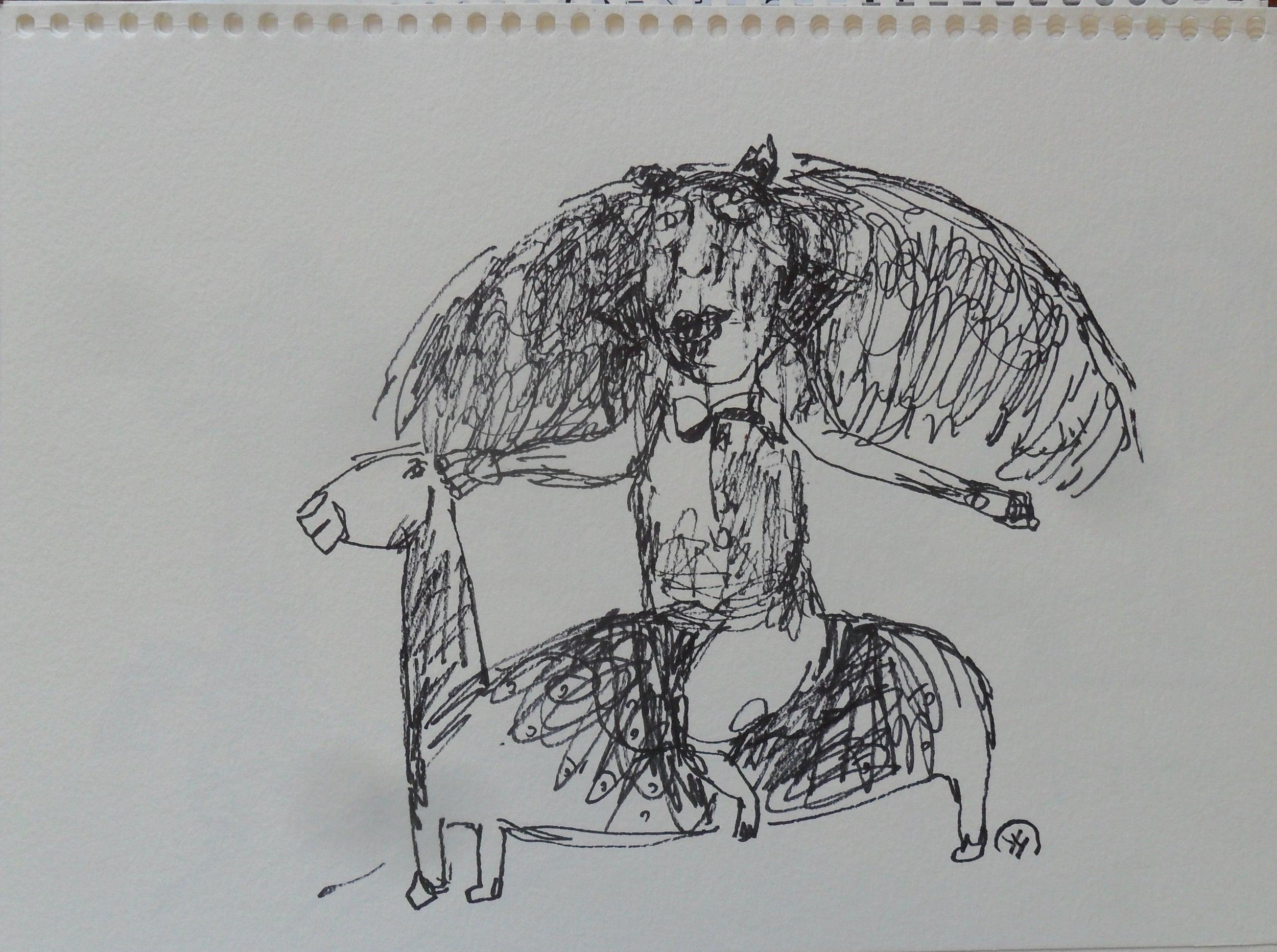 《现代罗汉图》#15纸本15x11英寸2010-2012.JPG