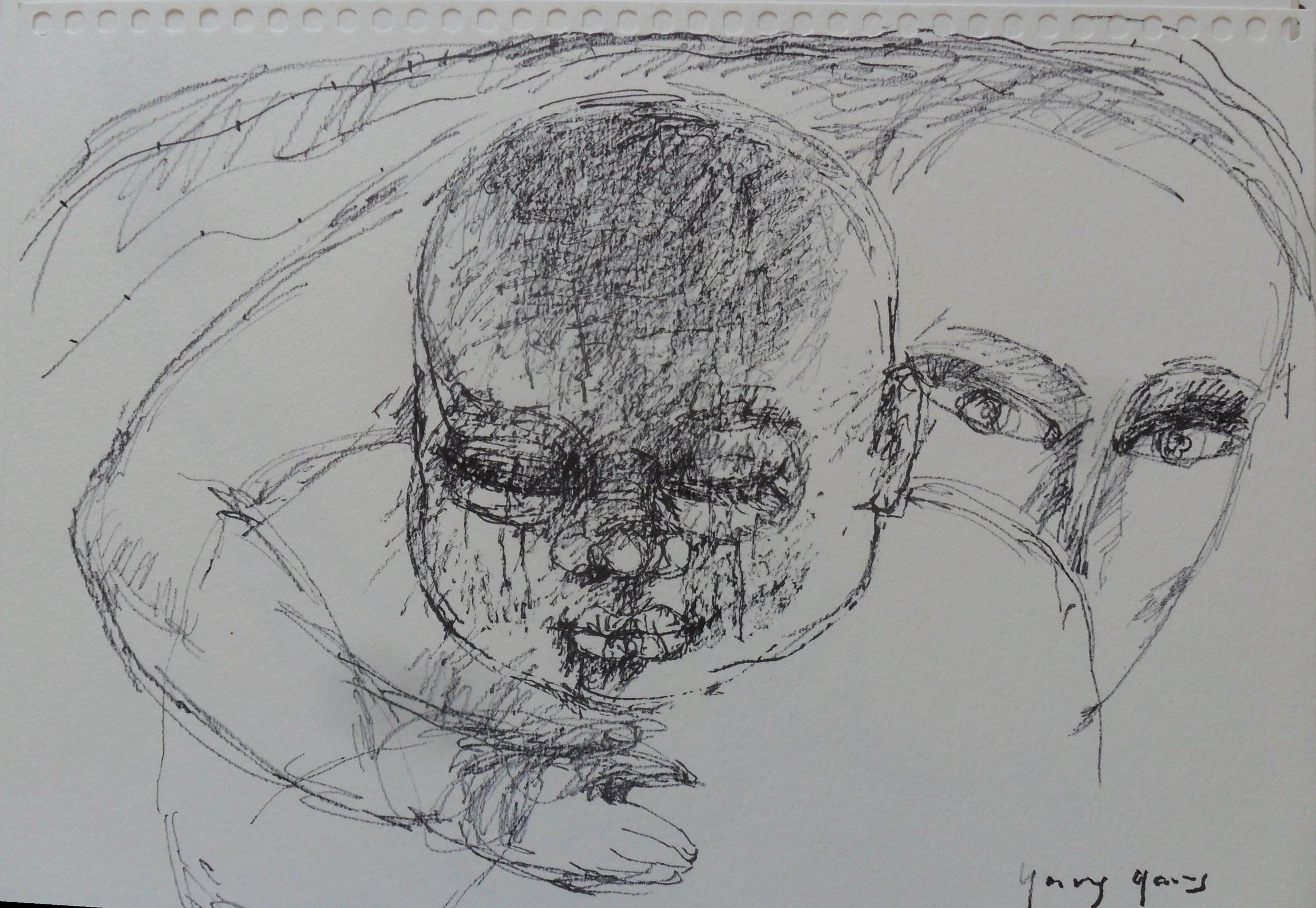 《现代罗汉图》#19纸本15x11英寸2010-2012.JPG