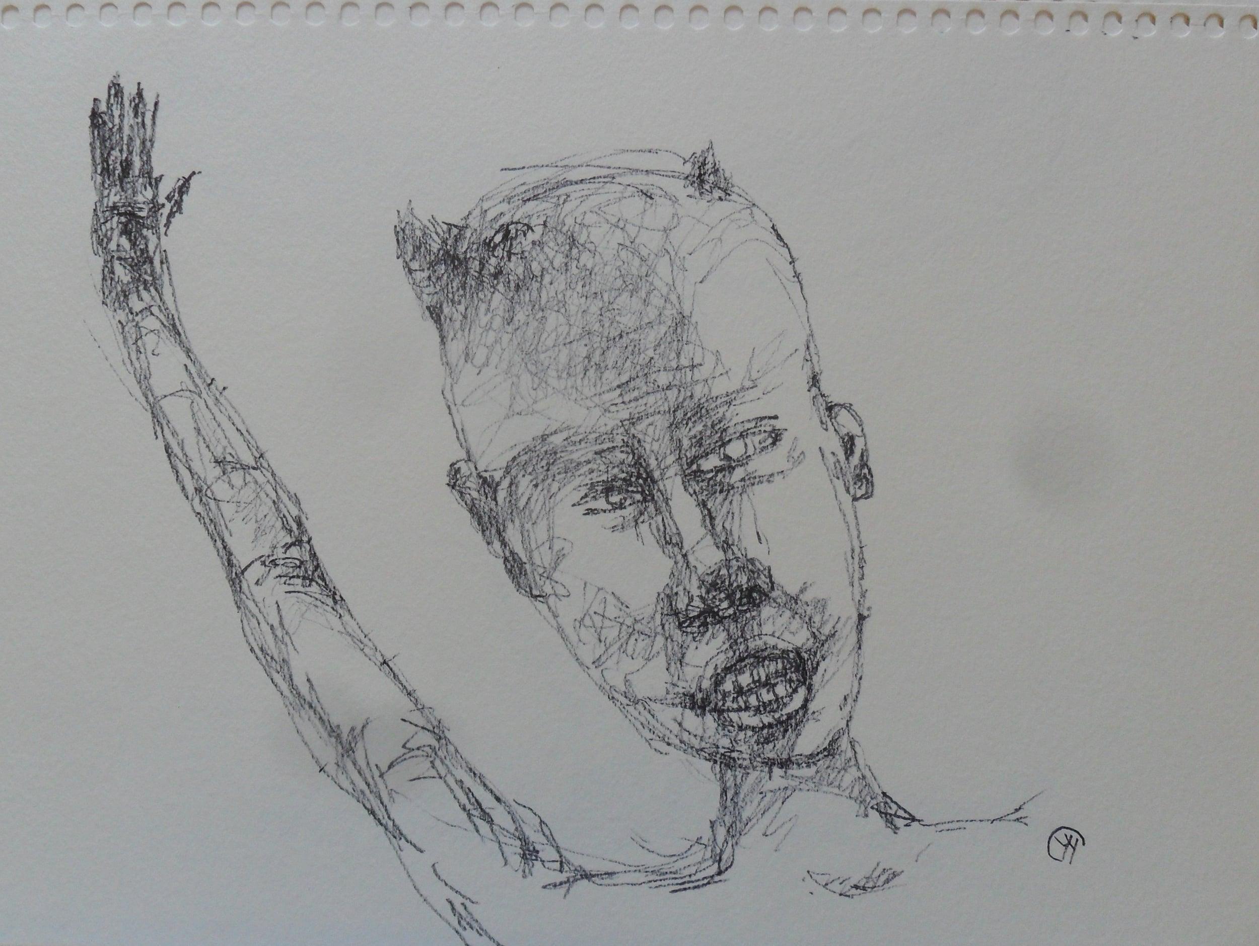 《现代罗汉图》#21纸本15x11英寸2010-2012.JPG