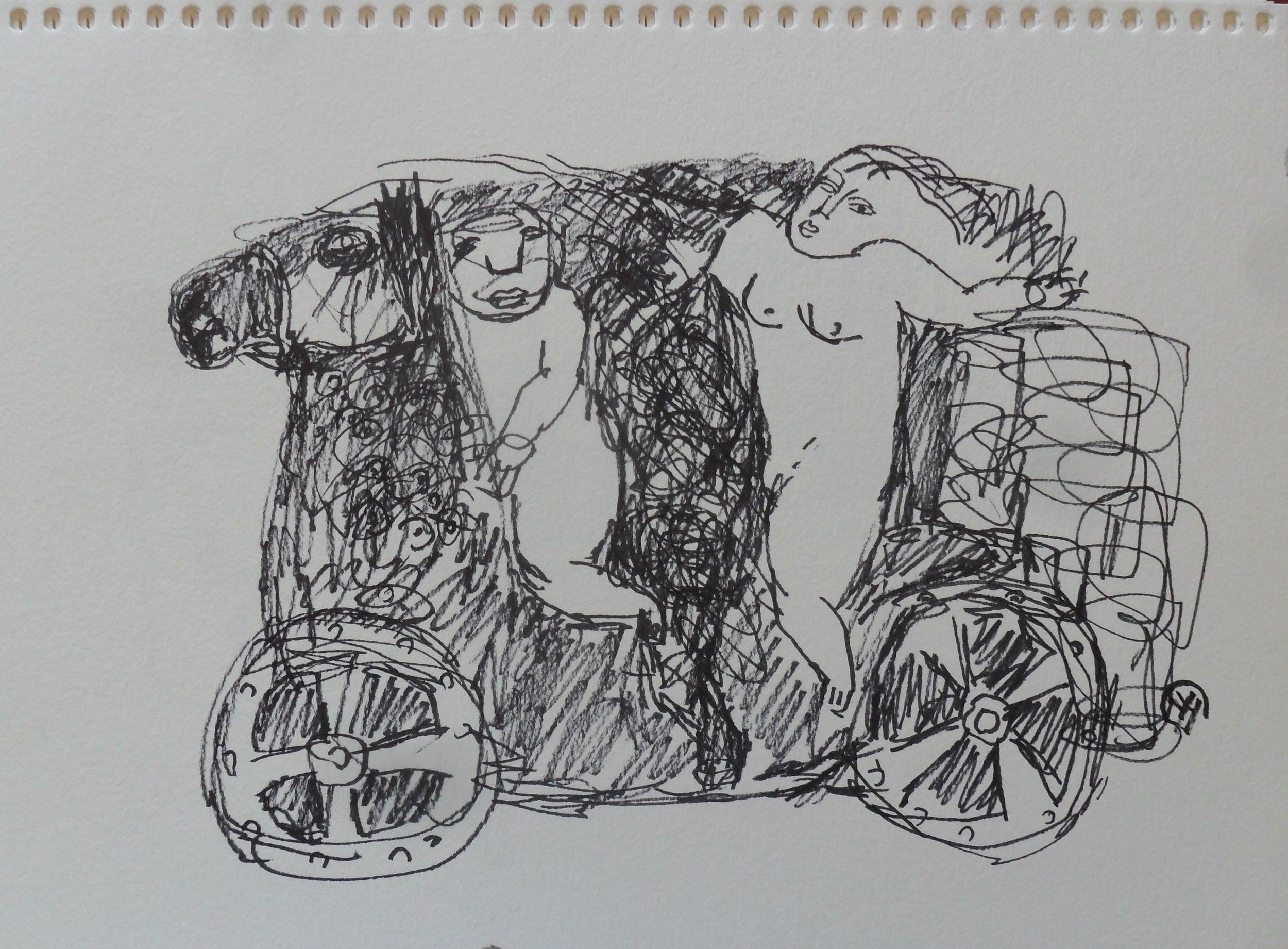 《现代罗汉图》#25纸本15x11英寸2010-2012.JPG