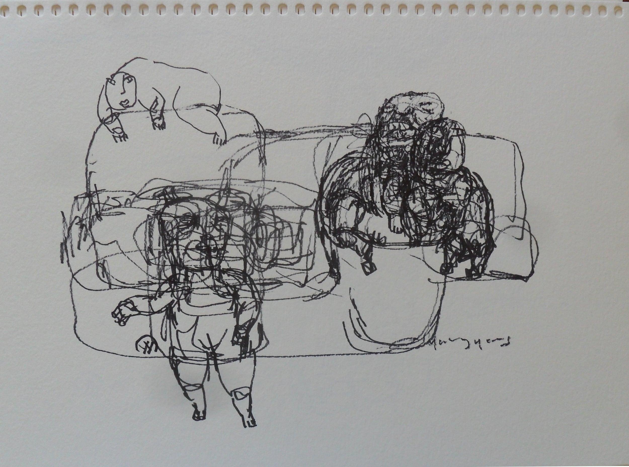 《现代罗汉图》#31纸本15x11英寸2010-2012.JPG