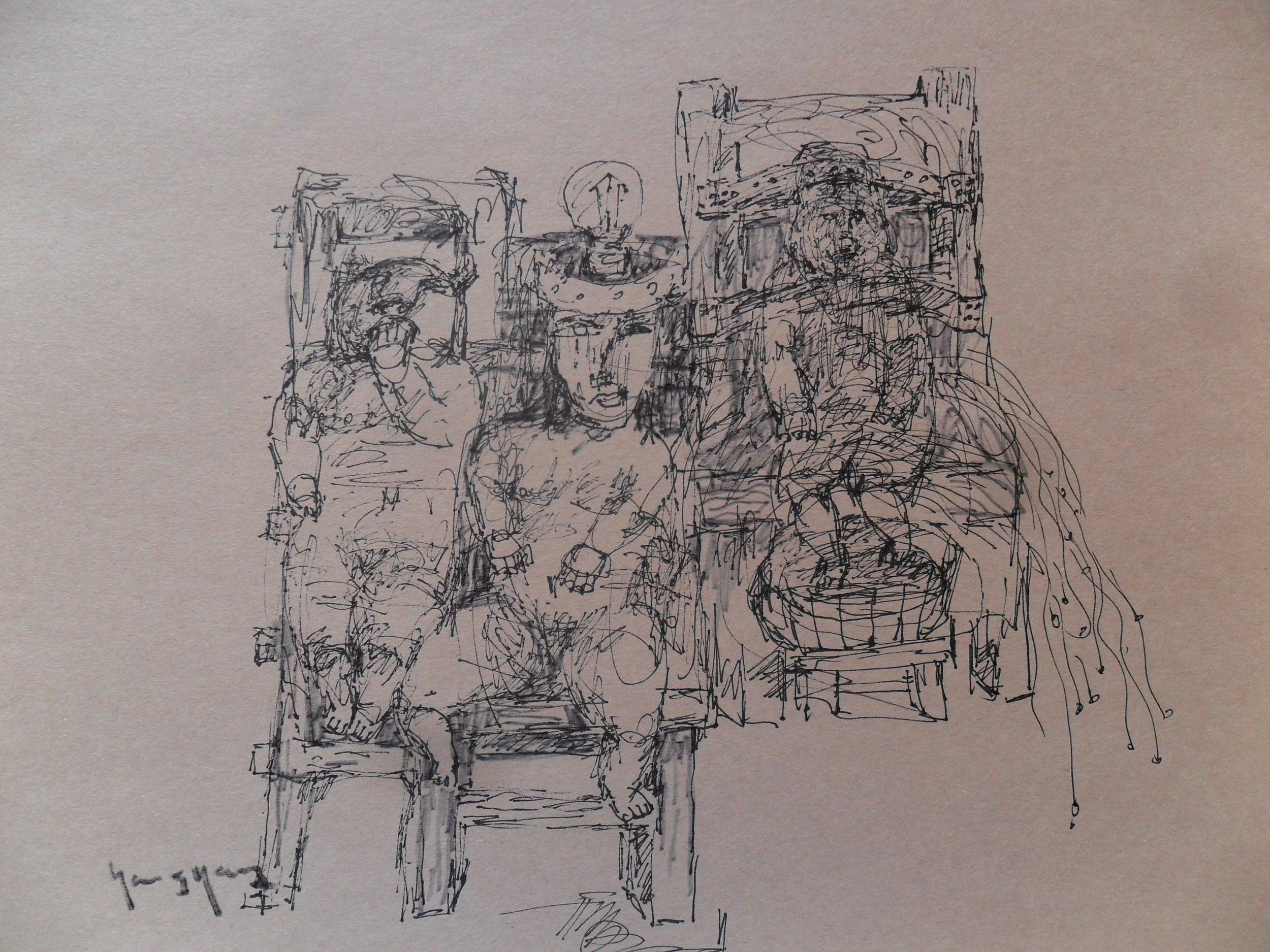 《现代罗汉图》#38纸本15x11英寸2010-2012.JPG