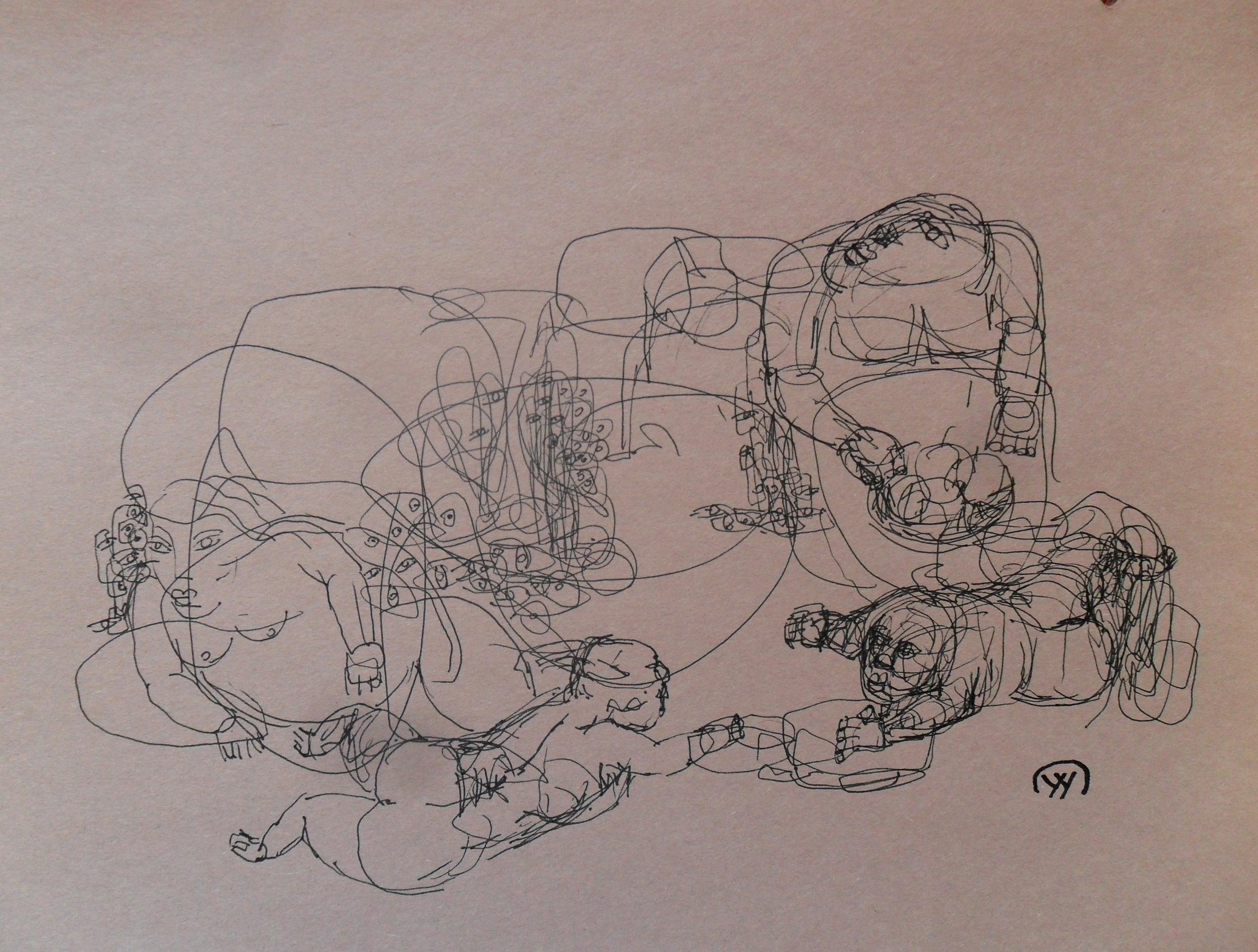 《现代罗汉图》#41纸本15x11英寸2010-2012.JPG