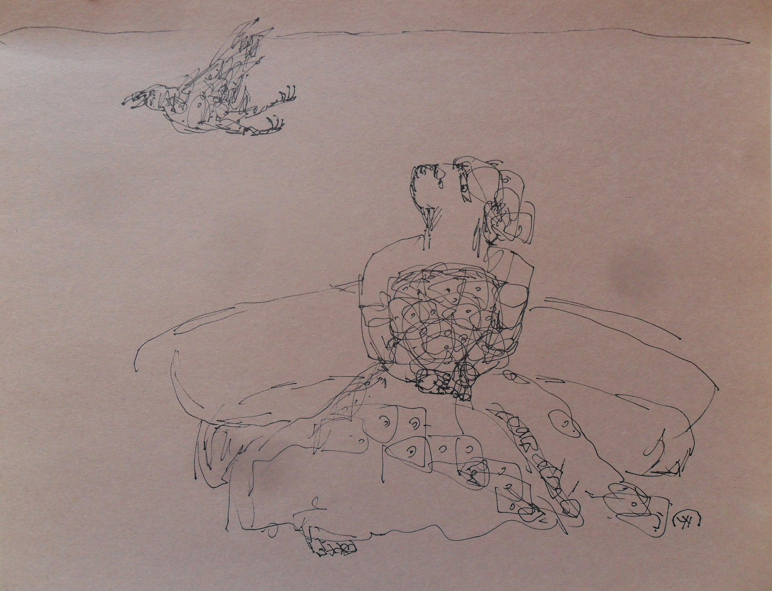 《现代罗汉图》#42纸本15x11英寸2010-2012.JPG