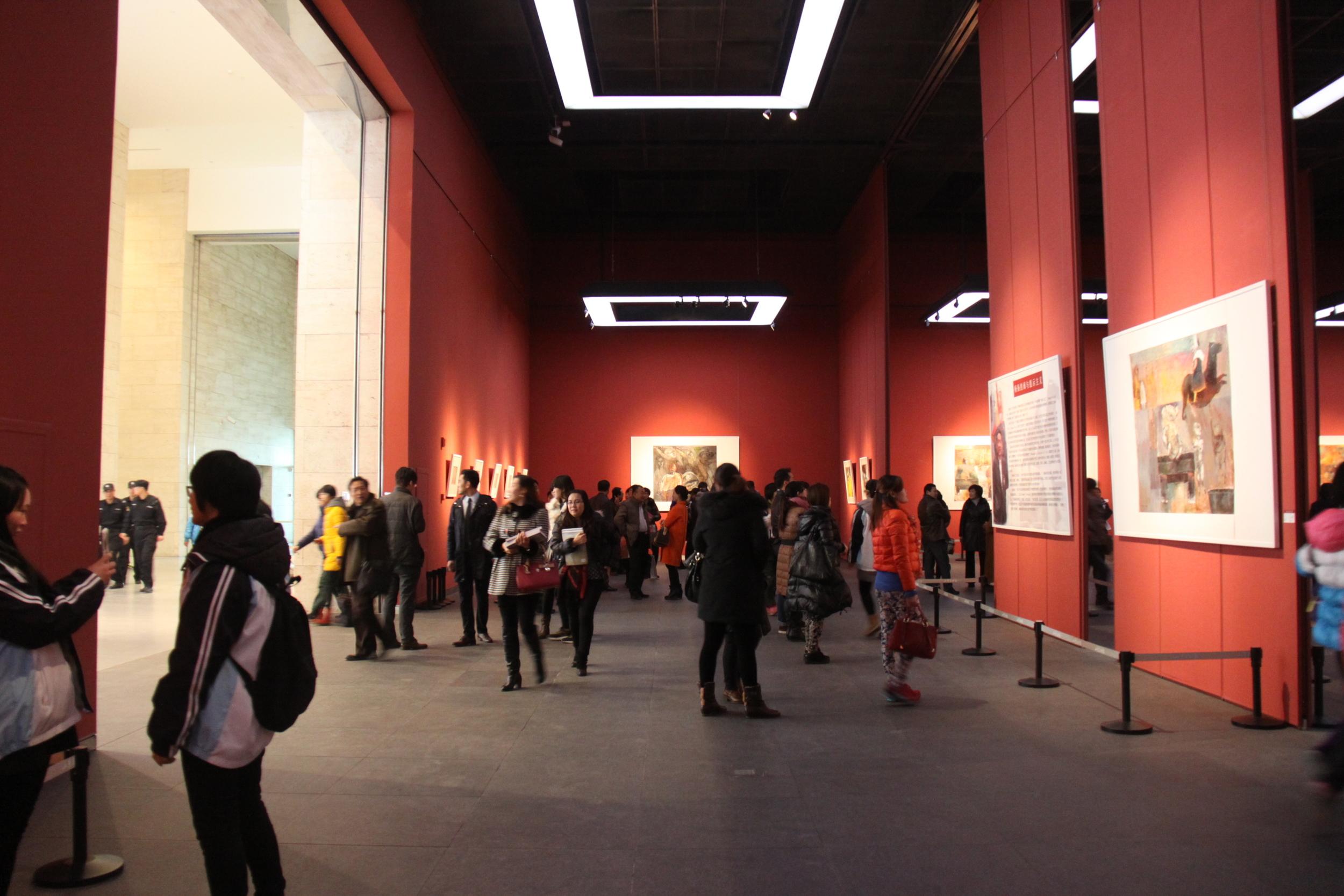 杨扬山东美术馆画展-主厅A1-杨扬个展共展出85幅作品图8.JPG