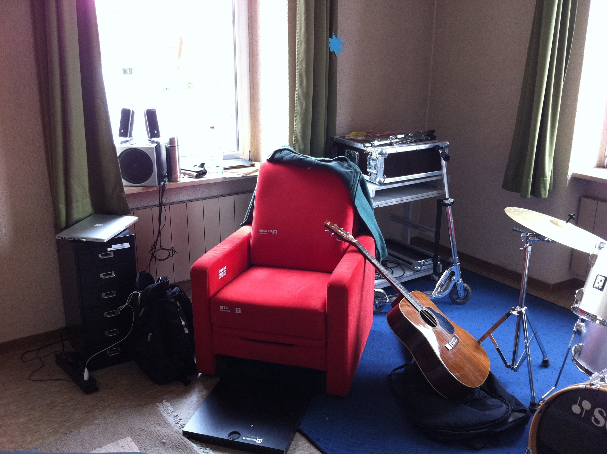 My working space at a music school in Germany