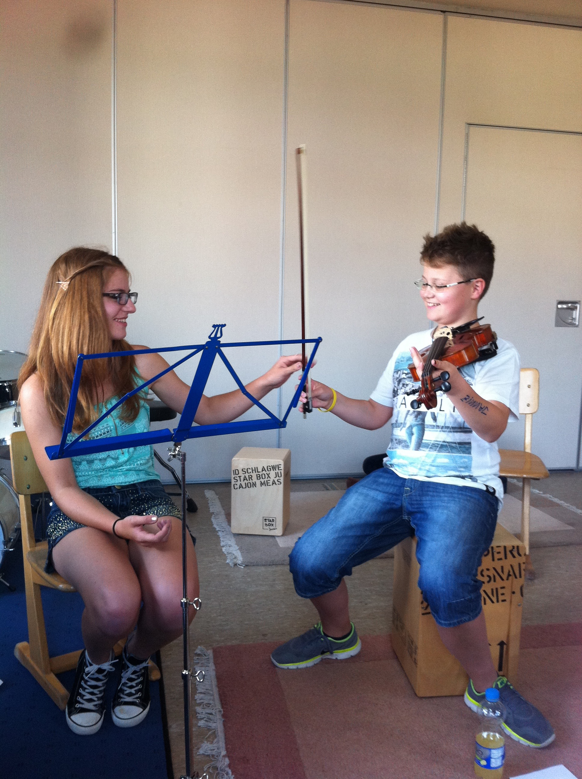 My students at the music school in Germany