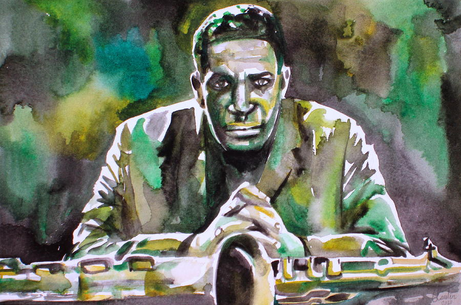 John Coltrane - watercolor by Fabrizio Casseta