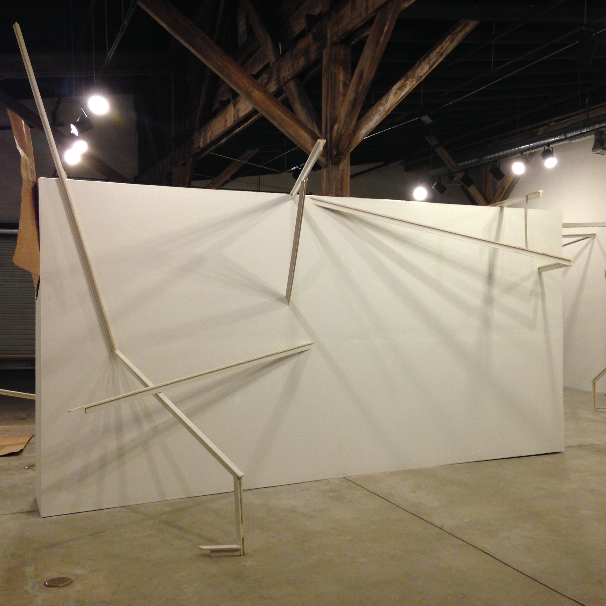 Installation view of   Interior/Exterior: Structural Constellations  , ATHICA, Athens, GA, 2014