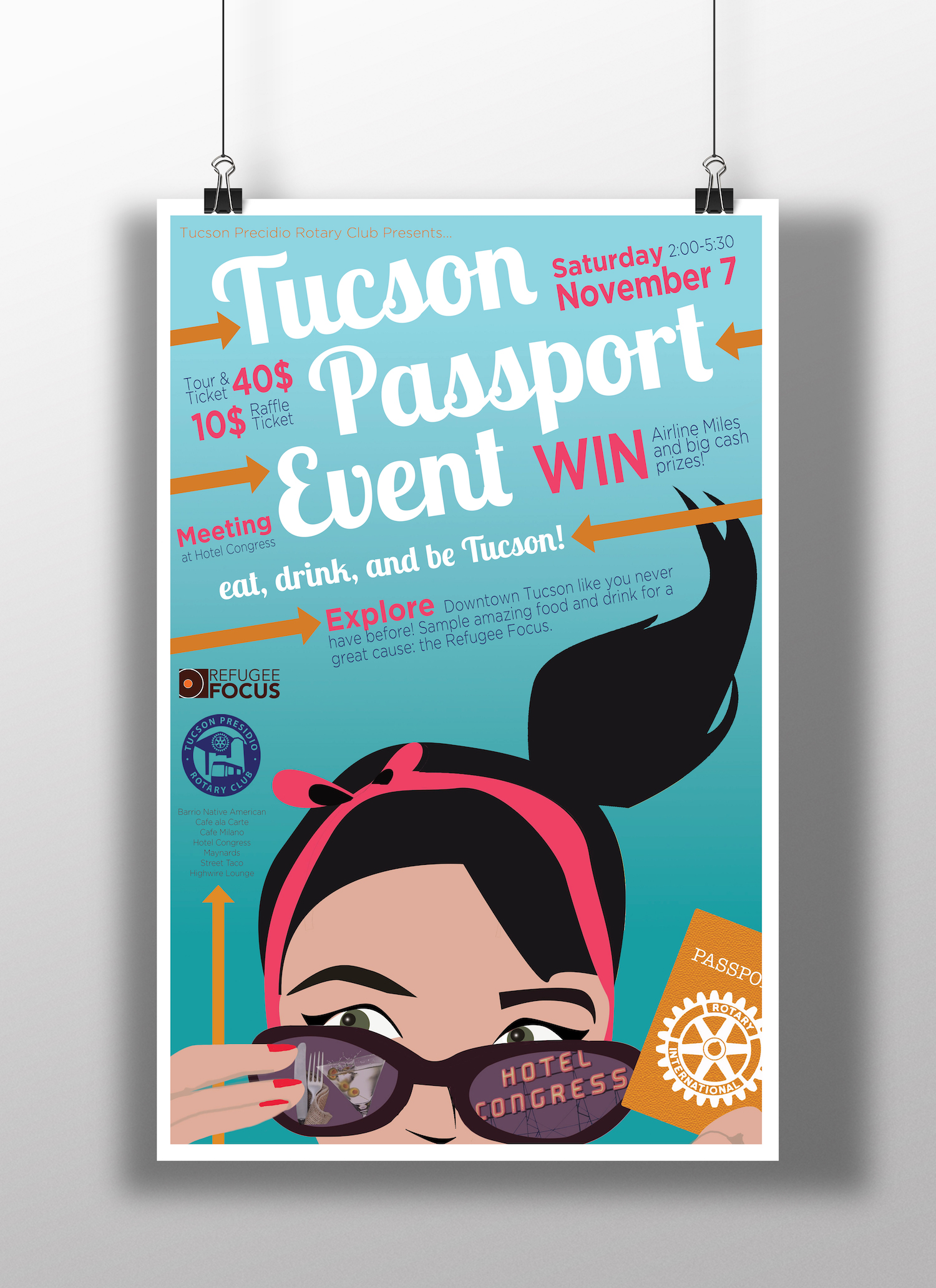 Tucson Passport Event Poster