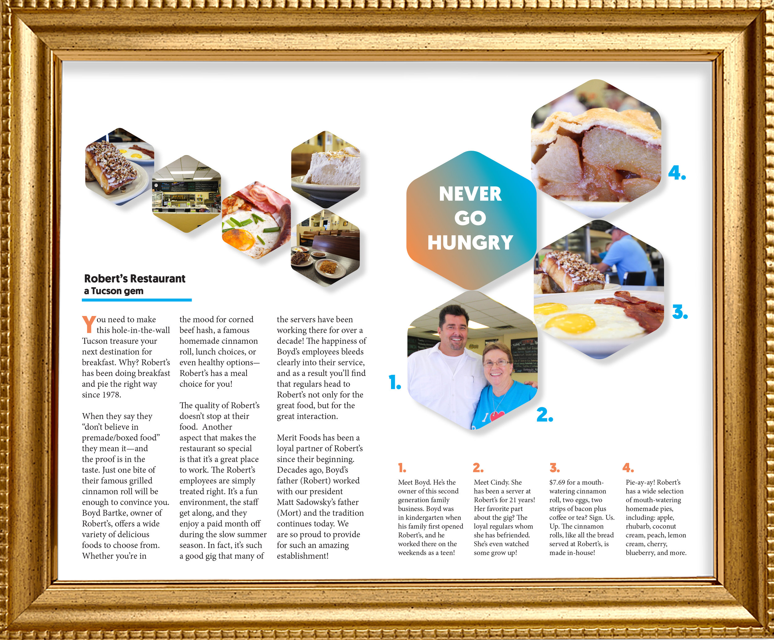 RESTAURANT EDITORIAL FEATURE   Here is an digital editorial about a local Tucson restaurant. (photography, photoshop, indesign, copywriting)      Please click here for more details, and to see other digital editorial designs!