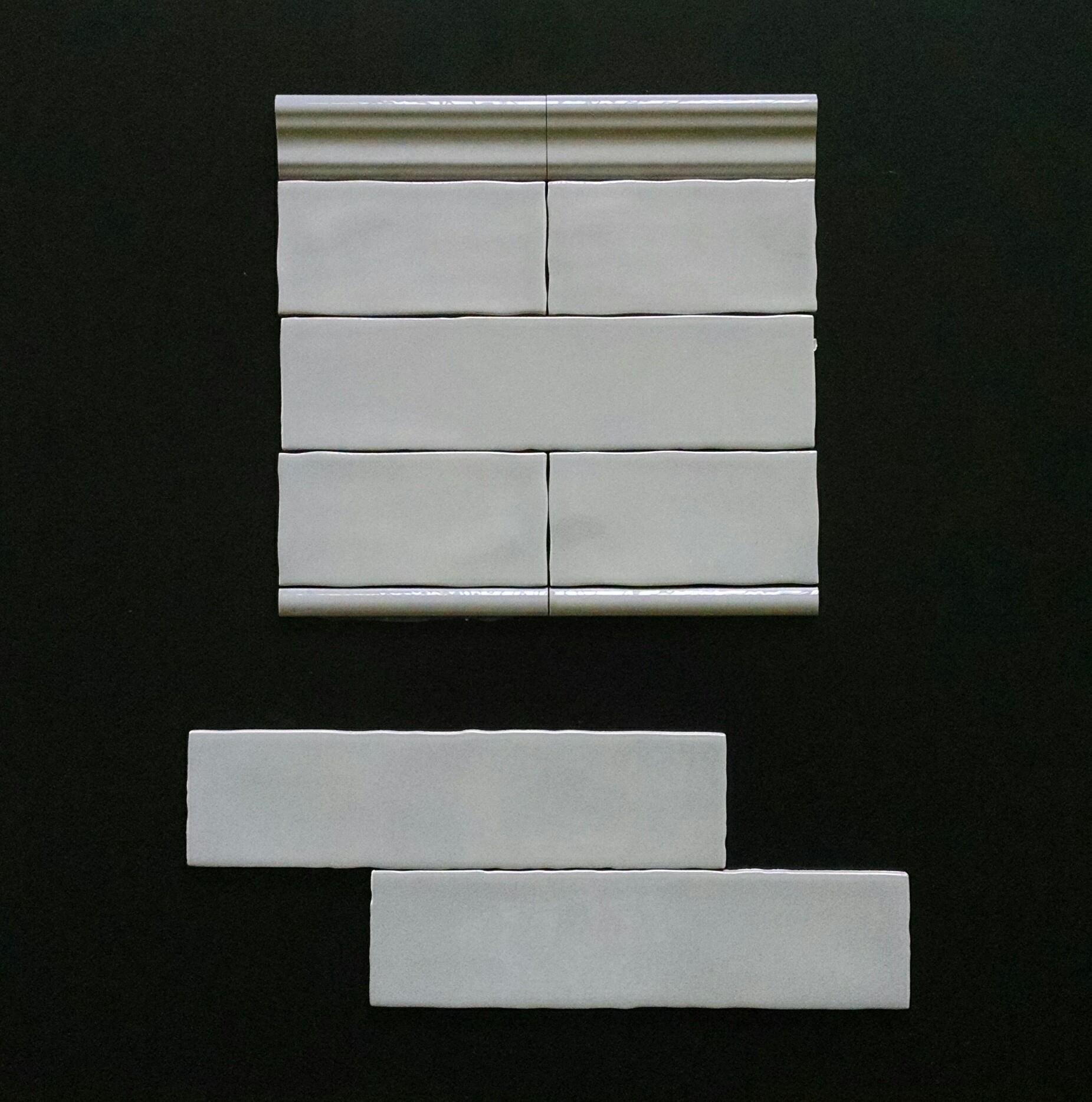 """METRO TAUPE   3""""X6"""" - 88 PC/CTN (10.66 SF); 80 CTN/PLT  3""""X12"""" - 44 PC/CTN (10.66 SF); 80 CTN/PLT  3""""X6"""" BULLNOSE  2""""X6"""" CHAIRRAIL  0.75""""X6"""" PENCIL"""