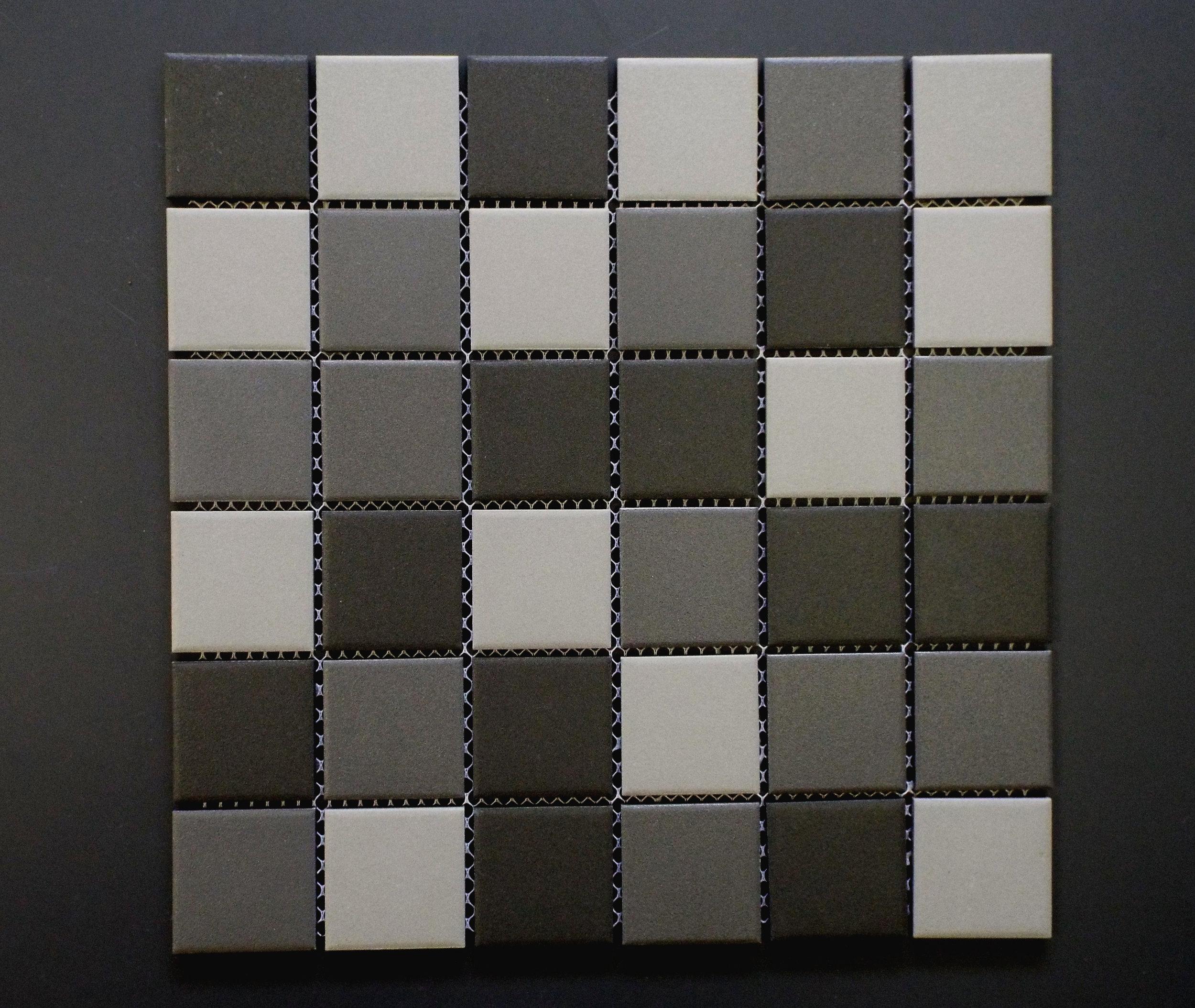 """UNGL 2X2MIXD- 2""""X2"""" Dark Grey Mix   20 PC/CTN (20.16 SF);  54 CTN/PLT"""