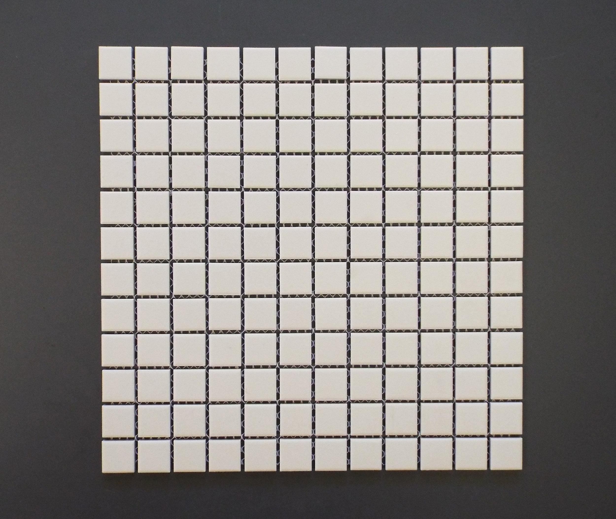 "UNGL WHITE - 1""X1""  20 PC/CTN (19.38 SF);  54 CTN/PLT"