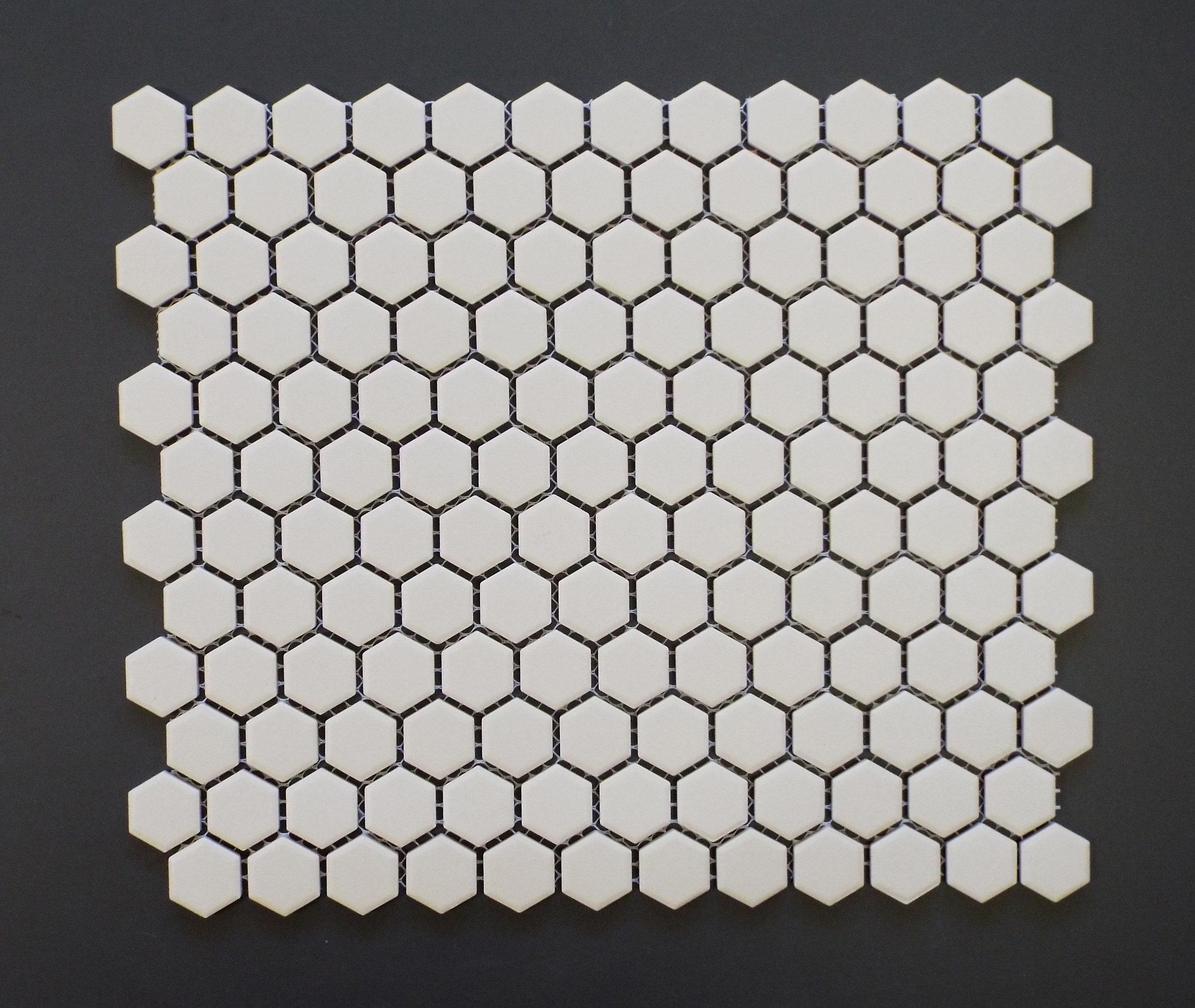 "UNGL WHITE -1"" HEXAGON   20 PC/CTN (19.38 SF); 5  4 CTN/PLT"