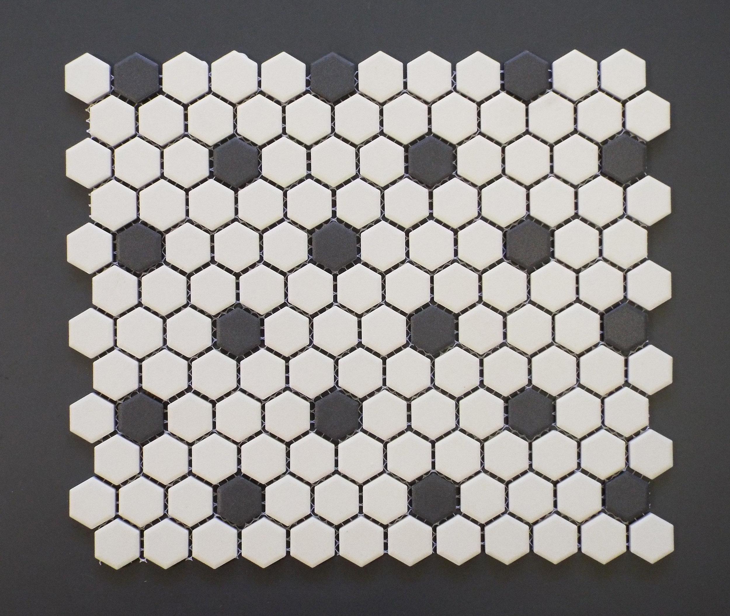 """UNGL ROSETTE - 1"""" HEXAGON   20 PC/CTN (19.38 SF); 5  4 CTN/PLT"""