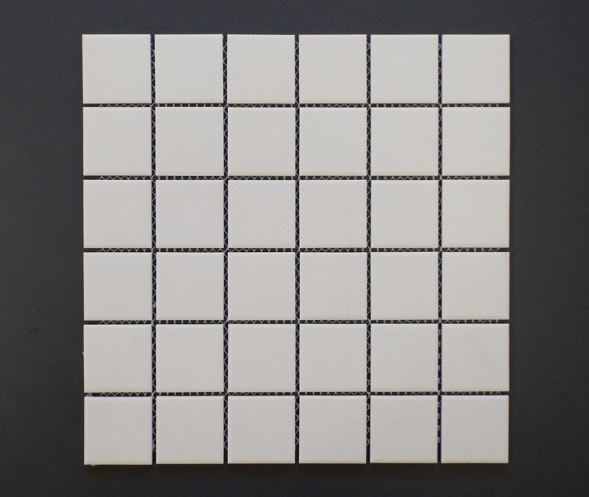 "UNGL WHITE - 2""X2""   20 PC/CTN (20.16 SF);   54 CTN/PLT"