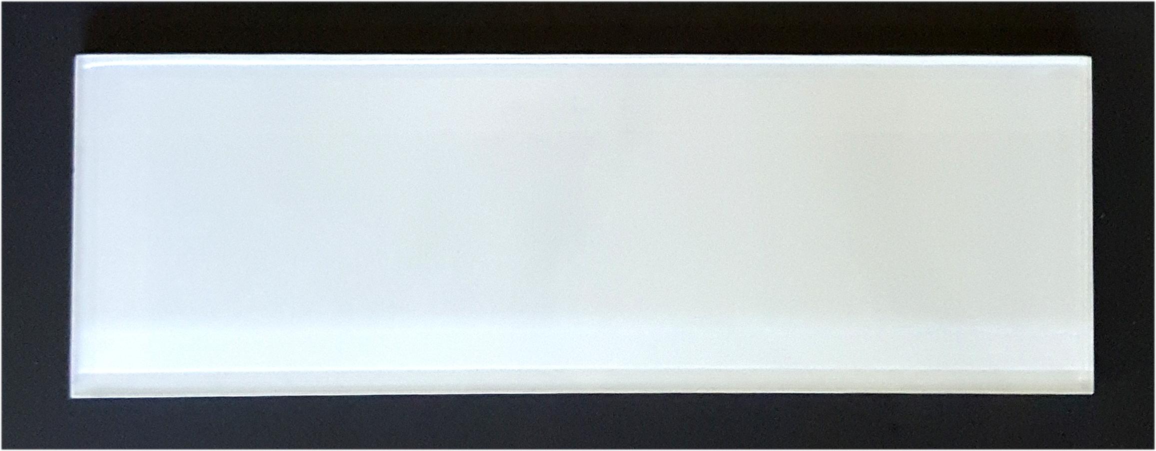 "TREND WHITE4X12 - White 4""X12"" Glass   33 PC/CTN (  10.76 SF);   72 CTN/PLT"