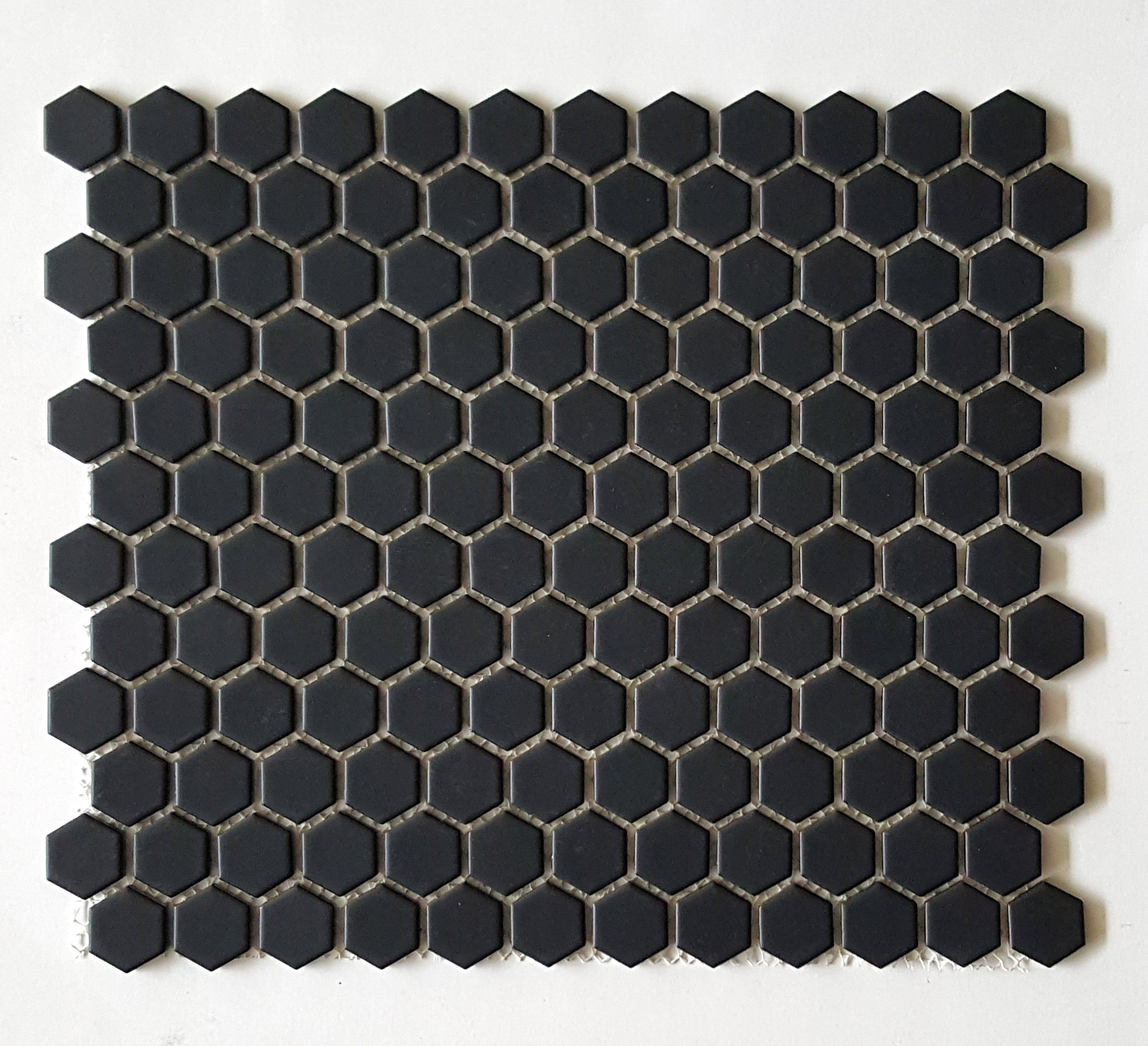 "HEX 1022 - 1"" Matte Black Hexagon   20 PC/CTN (  21.8 SF);   54 CTN/PLT"