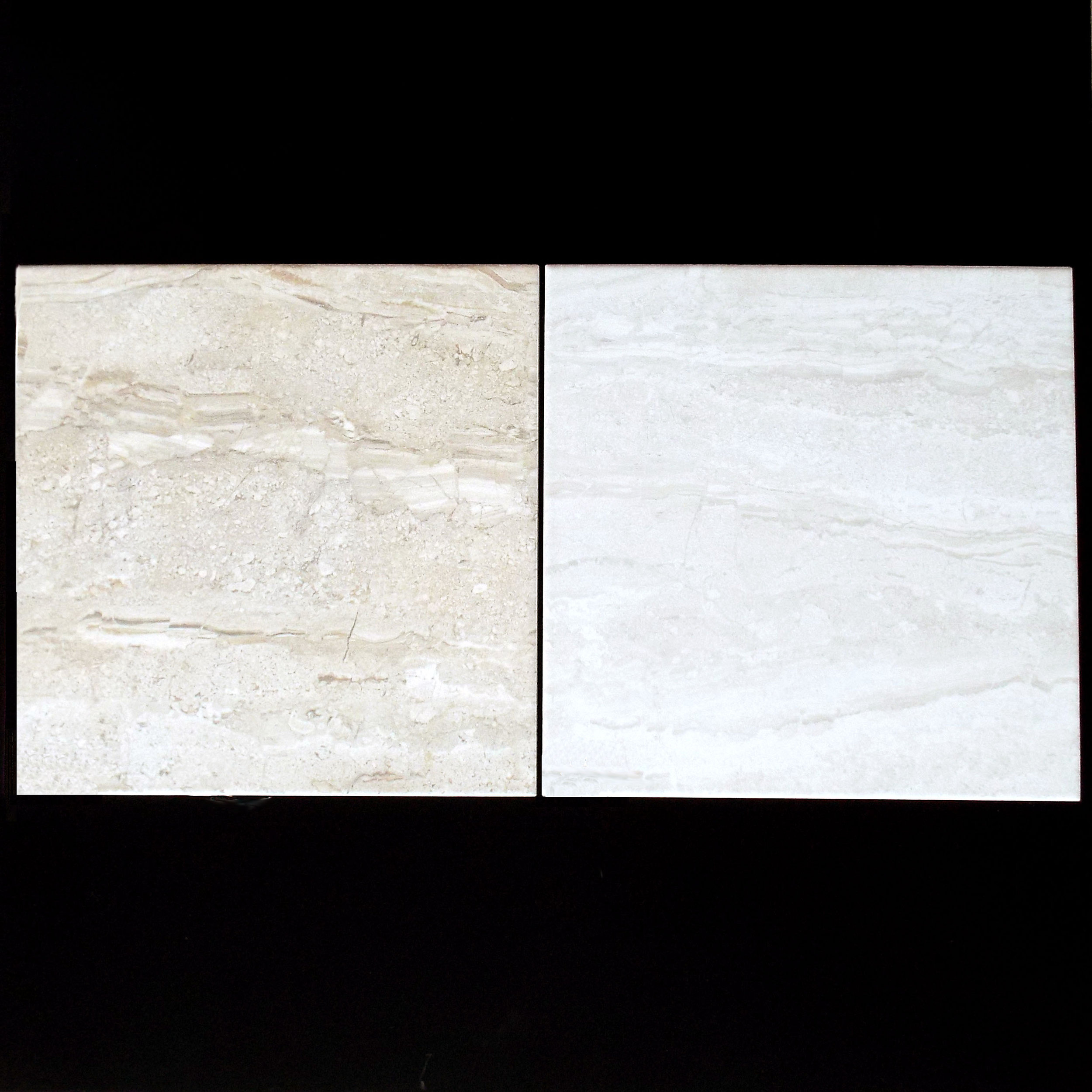 "BEIGE & BLANCO    13""x13"" Porcelain Floor  11 PC/CTN (10.76 SF); 48 CTN/PLT   18""x18"" Porcelain Floor  5 PC/CTN (10.87 SF); 66 CTN/PLT"