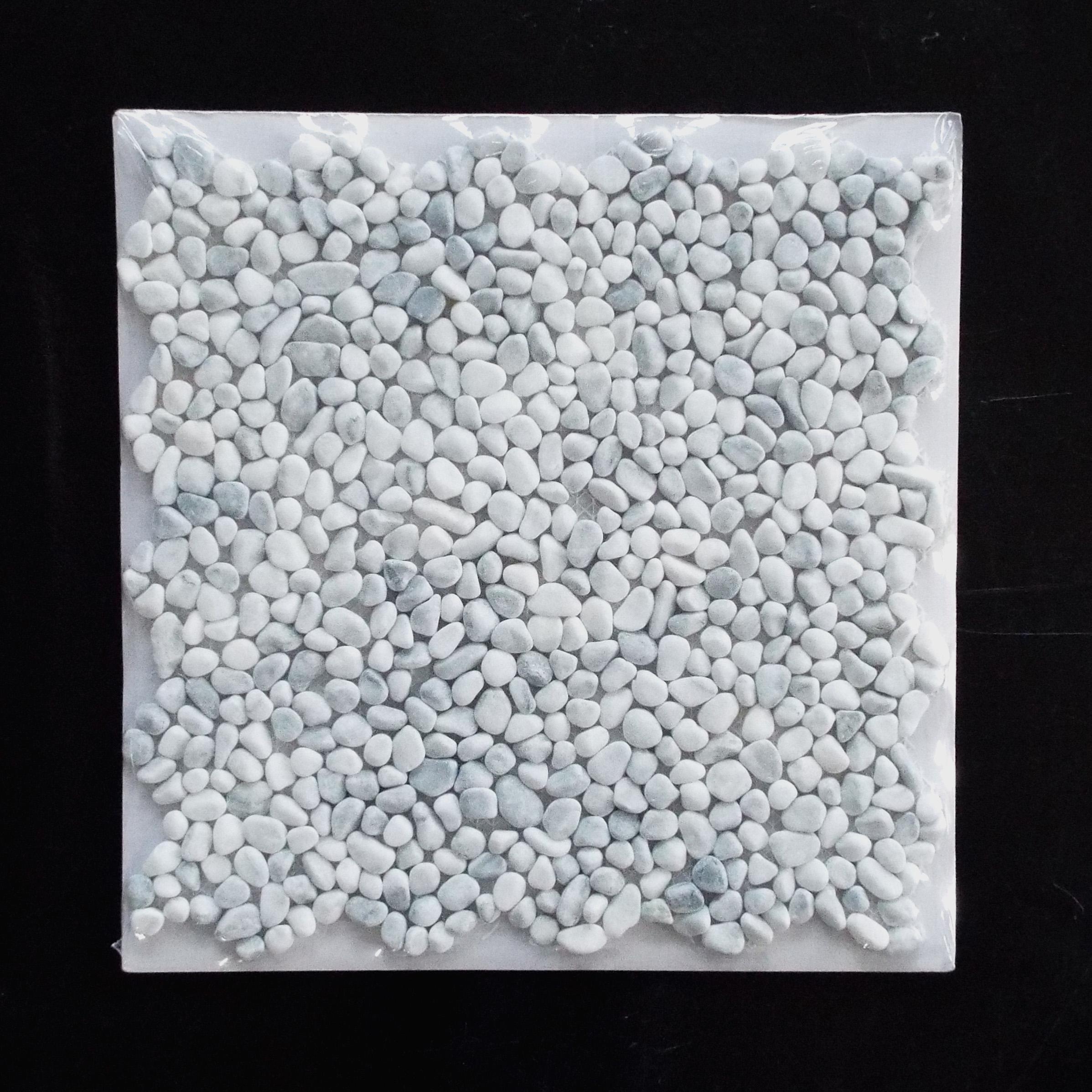 PEBBLE MINI - WHITE   11 PC/CTN (10.76 SF); 50 CTN/PLT  * Each sheet is individually wrapped.