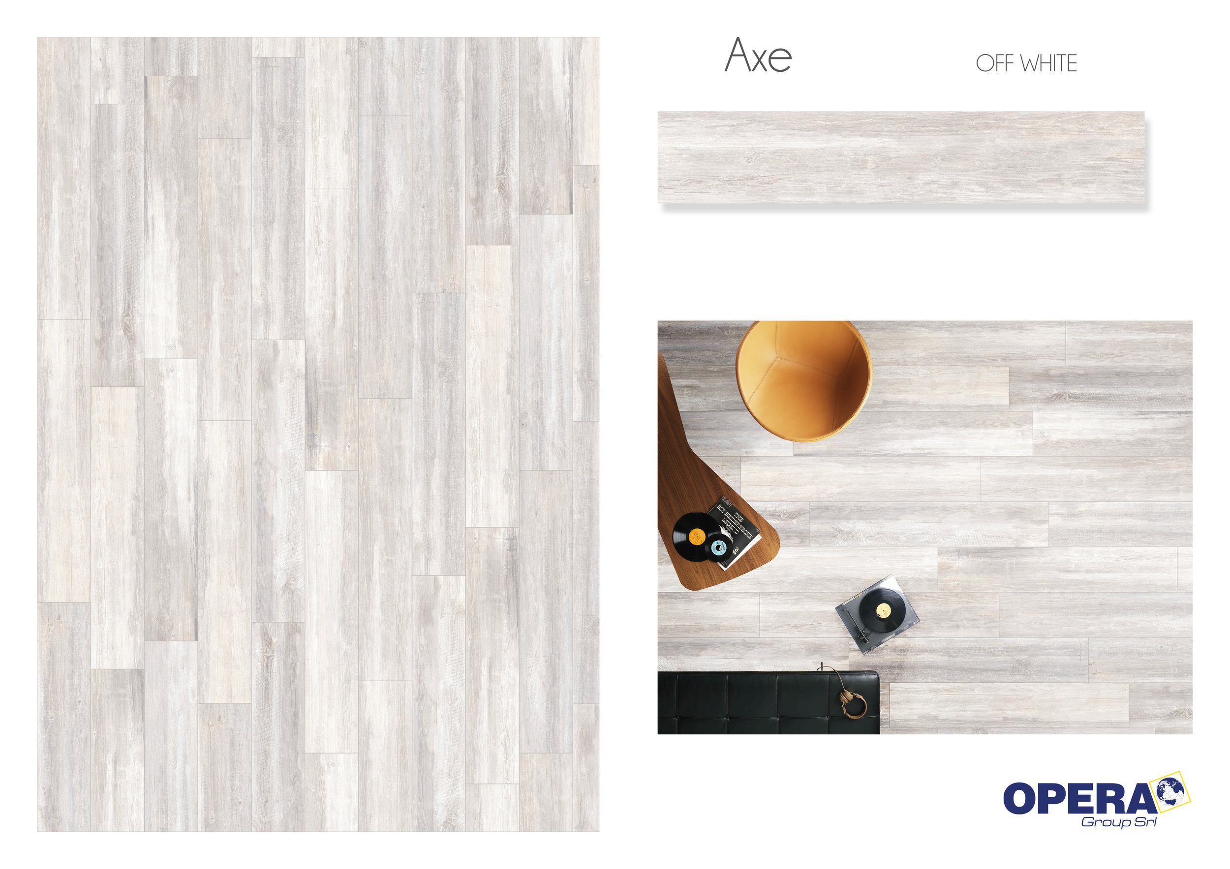 "Opera Axe -Off White 8""x48""   4 PC/CTN (10.33 SF); 40   CTN/PLT"