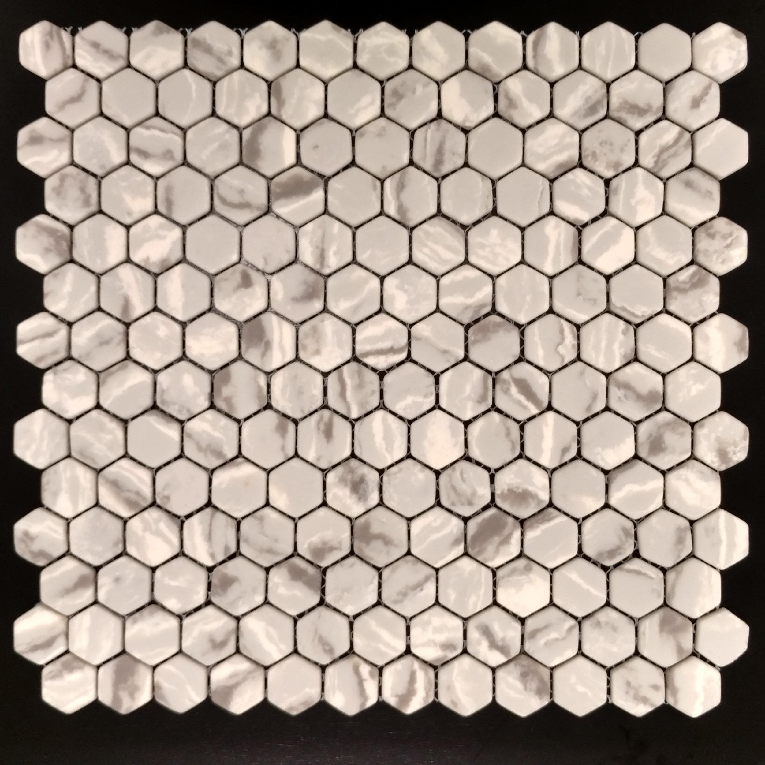 "Micro Crystal 7/8"" Hexagon Beige"