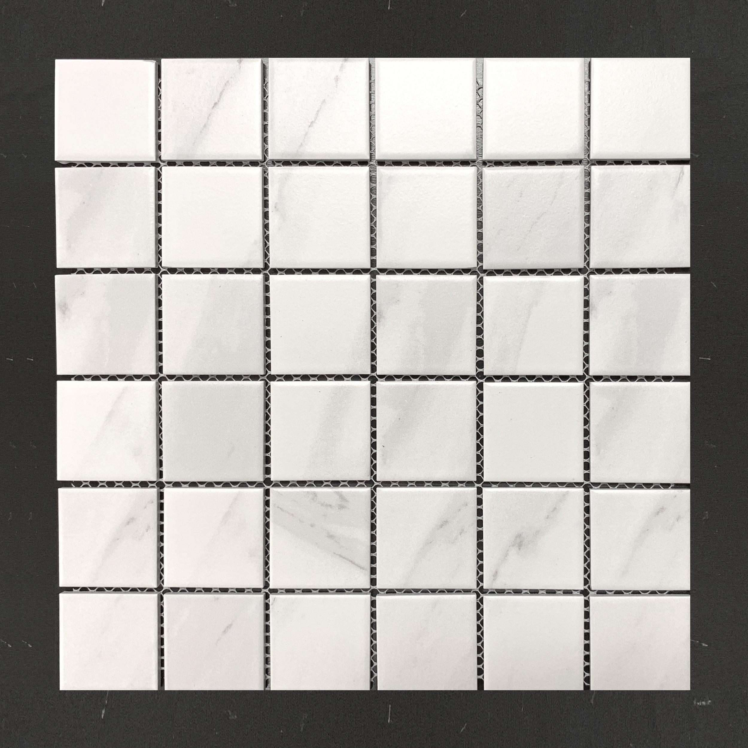 "Stone Srs 2""x2"" Carrara Grey"