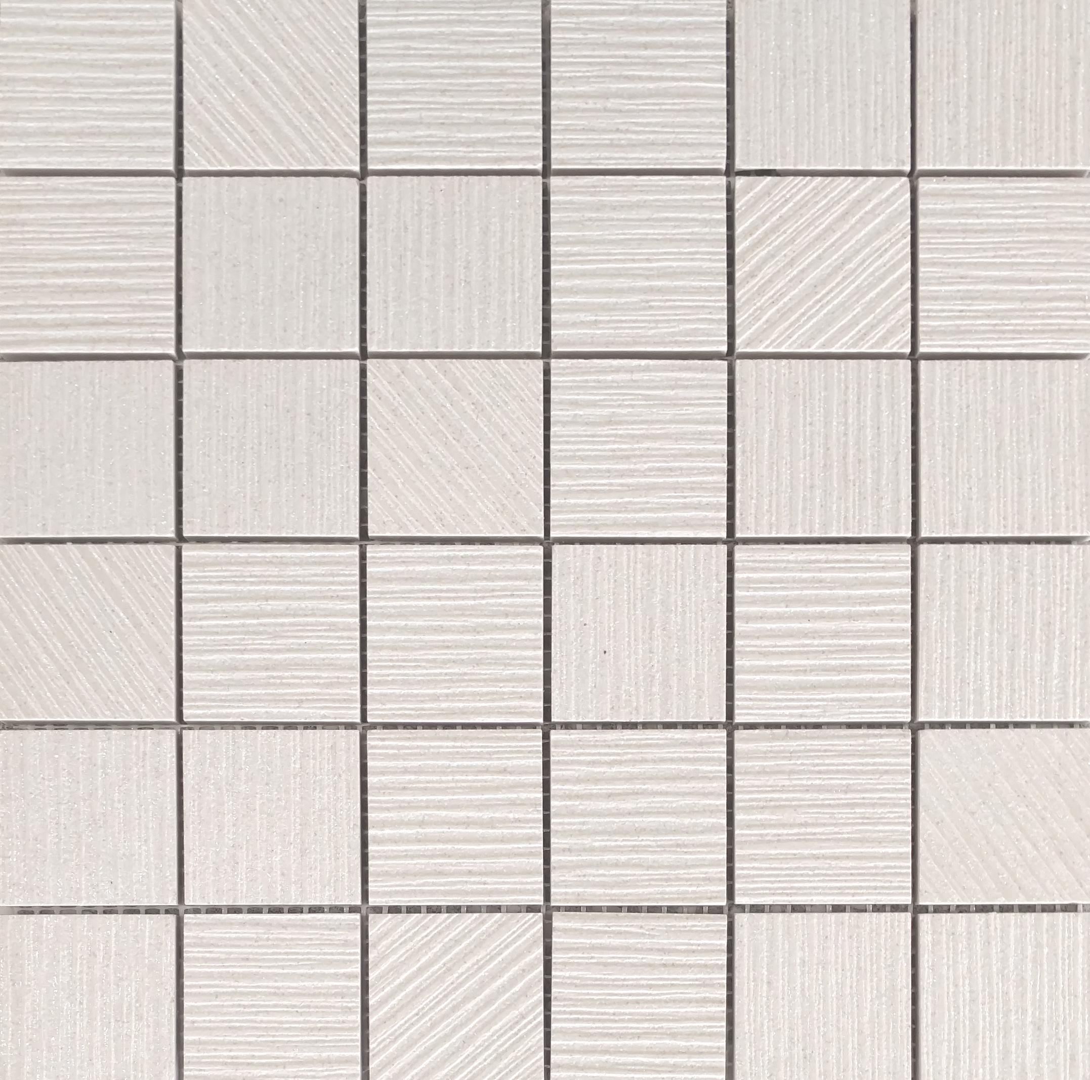 """ALLURE- DIAMOND WHITE 2""""X2"""" MOSAIC  11 PC/CTN (10.76 SF)"""