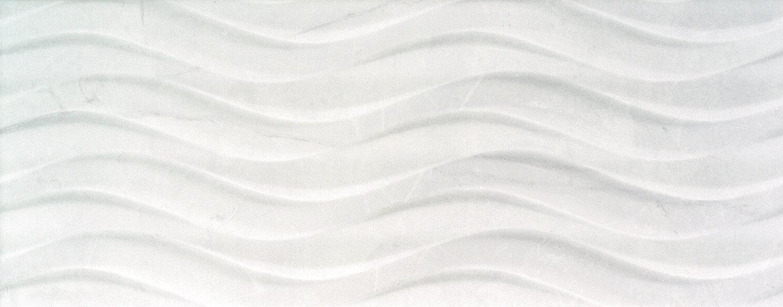 "Buckingham Blanco 8""x20"" Bend Deco glossy ceramic   14 PC/CTN (15.07 SF); 48 CTN/PLT"