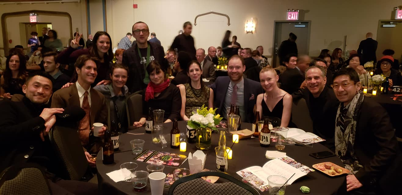 The NBR table at NYRR Club Night