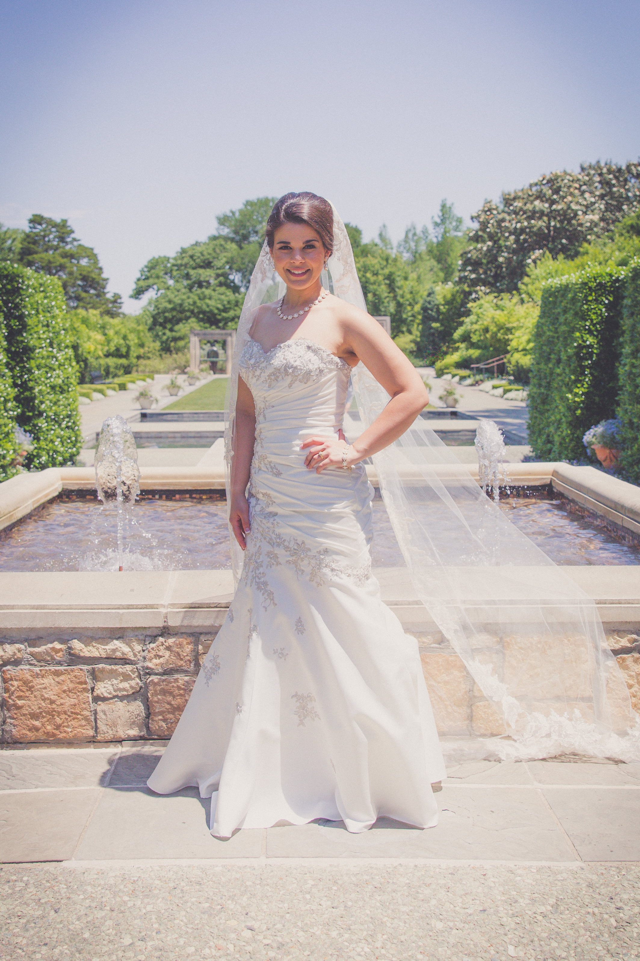 Bridal Shoot dallas arboretum