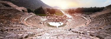 A view of the amphitheater in ancient Ephesus.