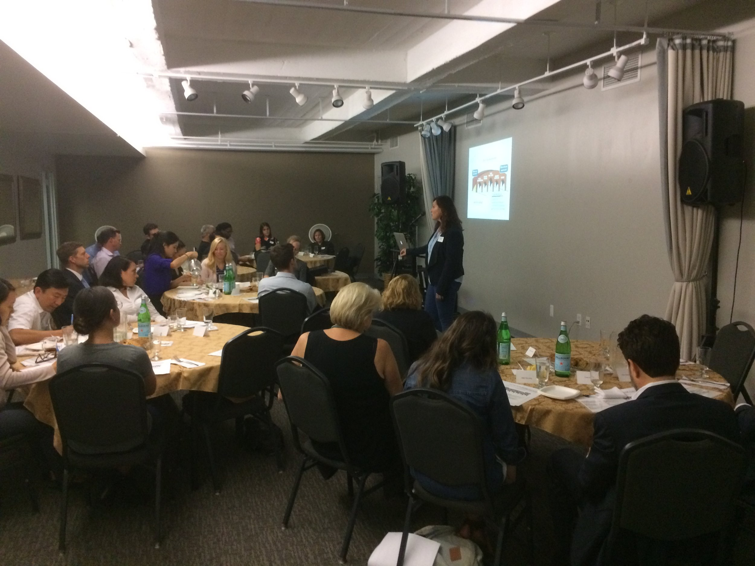 The coaching training during the launch event for the Mentor Millennial Initiative.