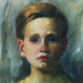 Age 14  pastel by his father Steven Gách