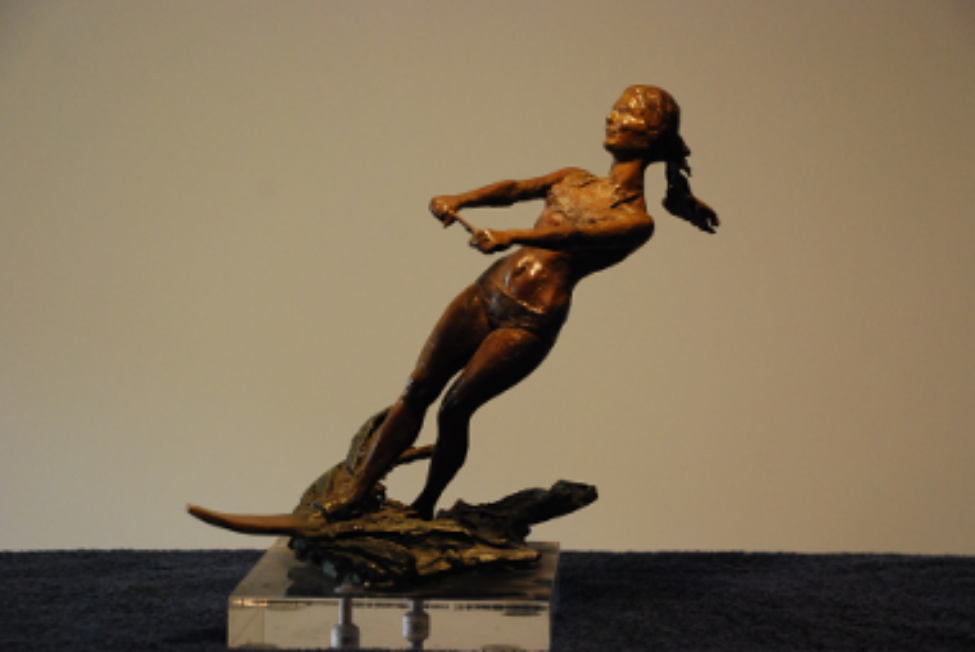 woman waterskier