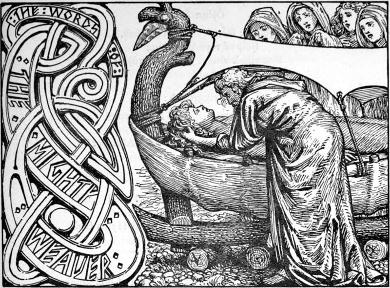 Odin's Last Words to Baldr W.G. Collingwood (1854 - 1932)