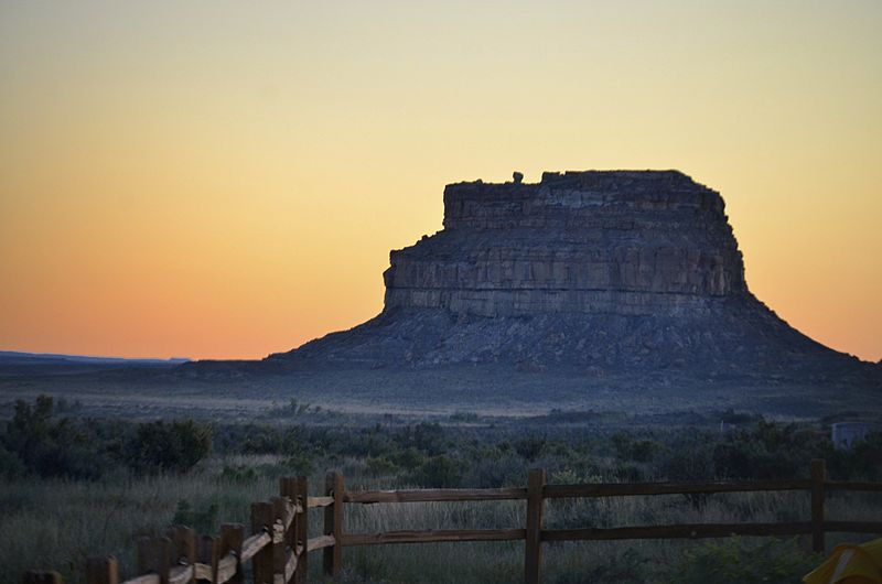 Fajada Butte at sunset in October of 2011 photo by Joey Kujawski
