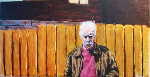 Day Drunk With A Mentor. Acrylic on wood. 2010.