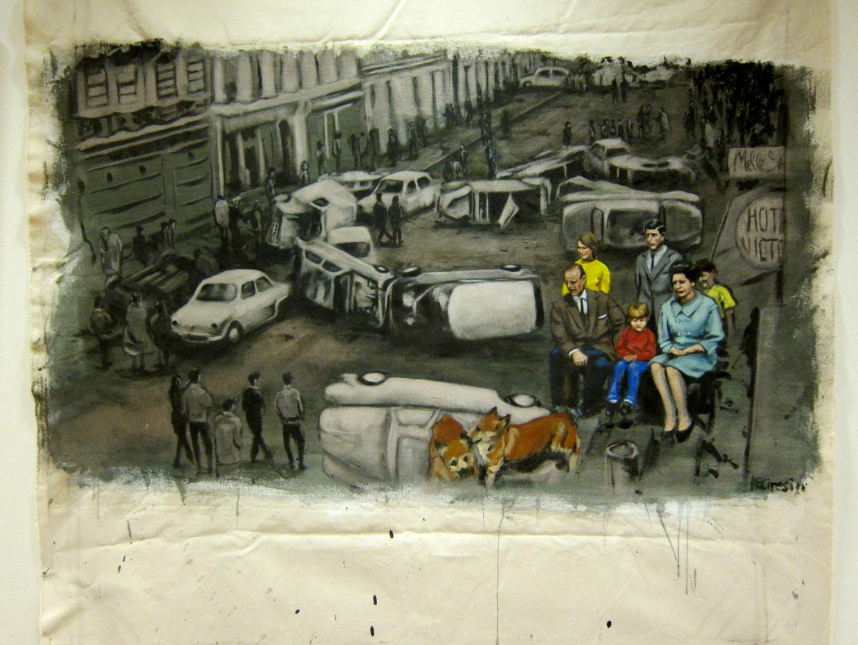Royal Upheavel 1968. Acrylic on canvas. 2011.