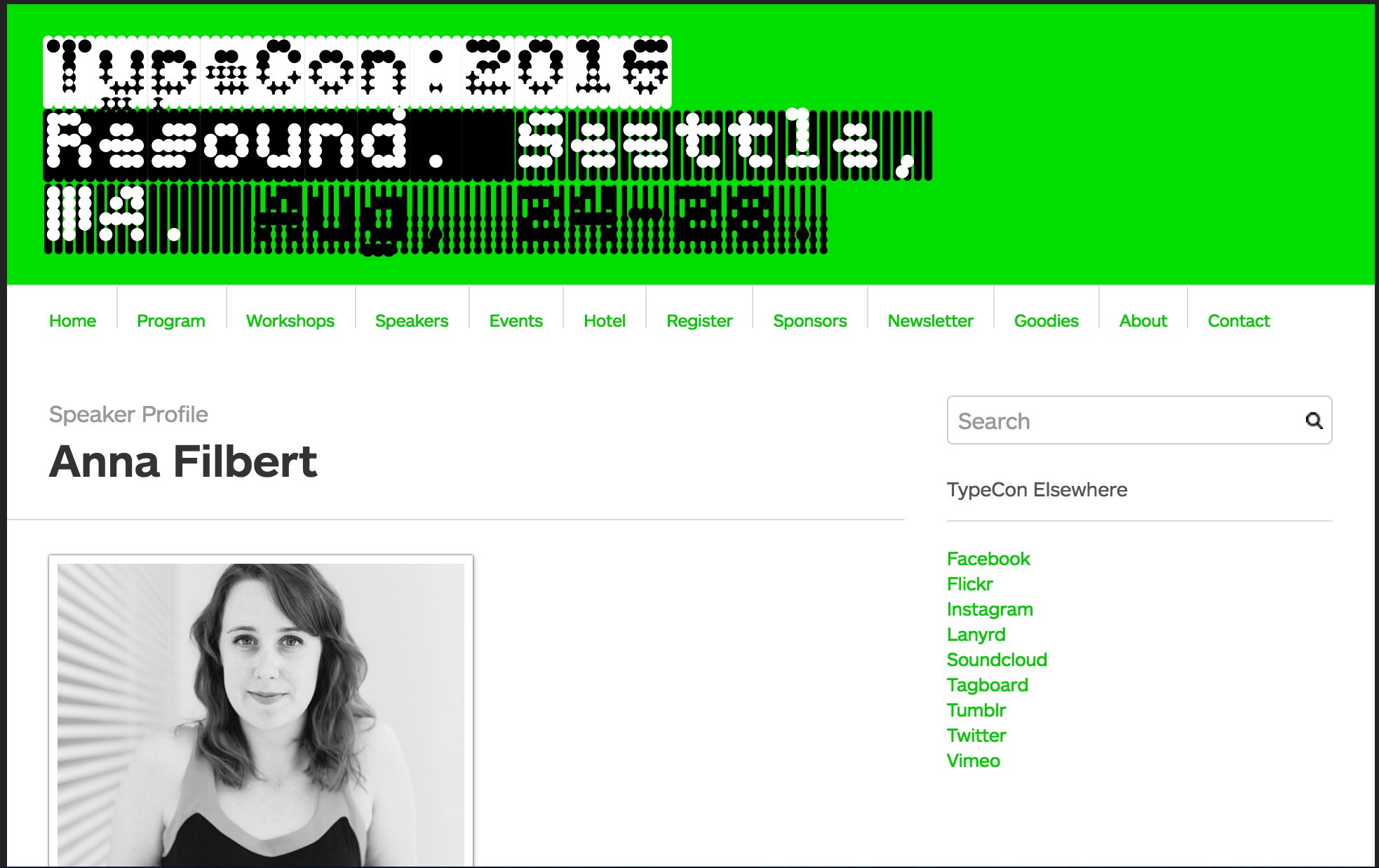 "2016 TypeCon (Seattle, WA) ""Creative Retreat"" presentation, Anna Filbert"