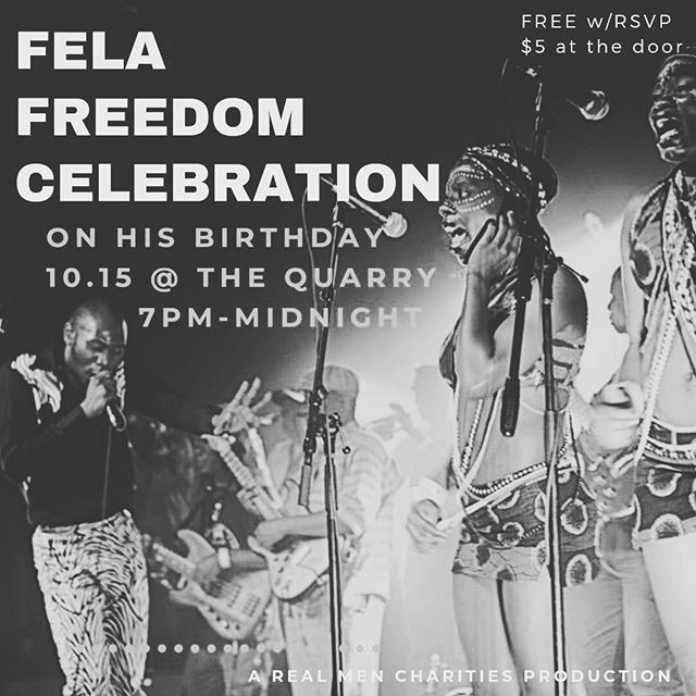 430 RSVPs already, let's go! Afro Beats, House, Funk, and tons of Fela.  Food vendors, massage tables, yoga instructor, drinks at the bar.  All of it.  Free entry, come thru Tonight. Sound check ✅