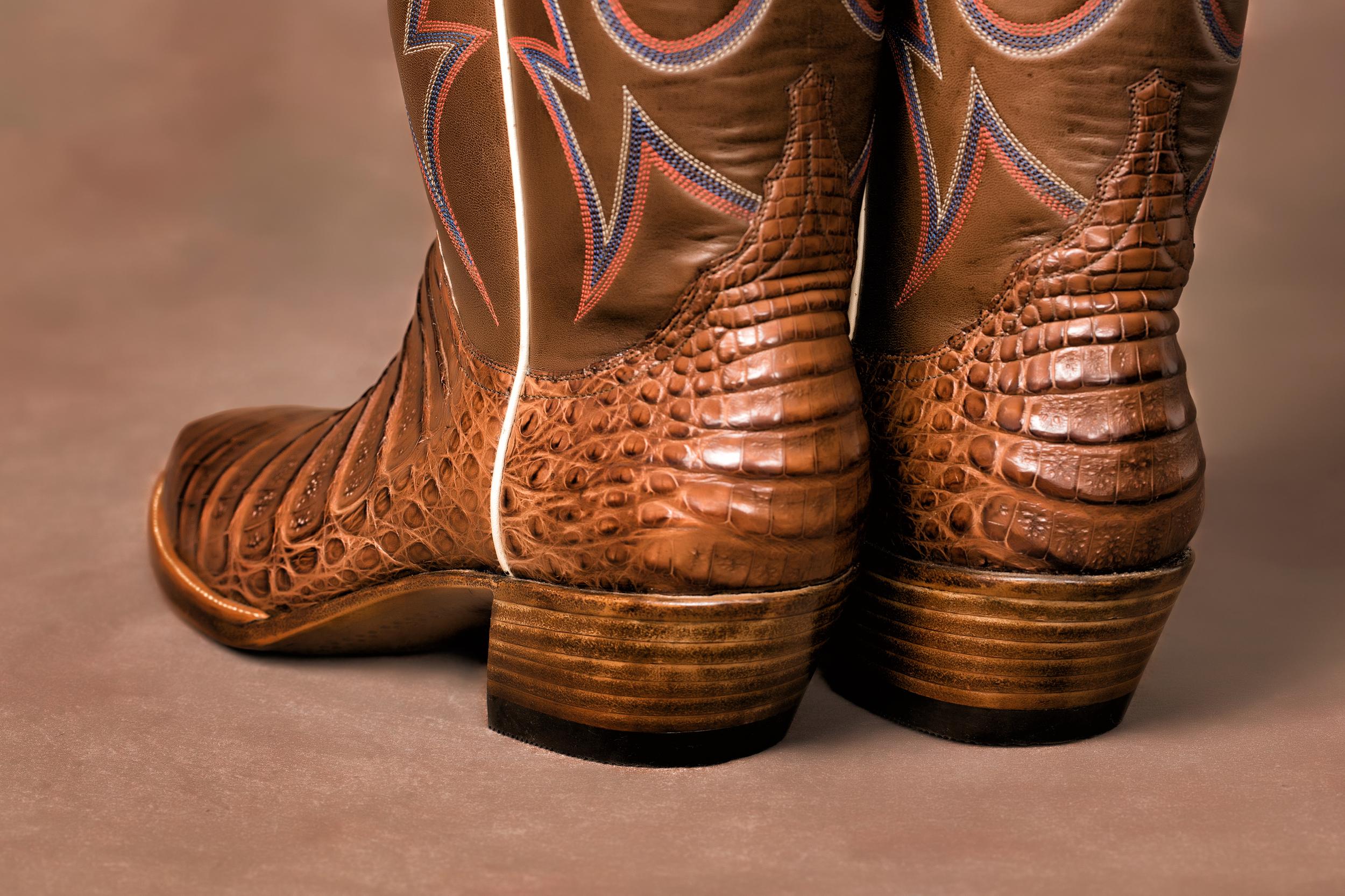 "Antique Brown sole & Regular 1.75"" Cowboy Heel"