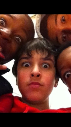 A photo of Shadi and his friends from Seventh Grade. Provided by Shadi's friend Carlton.