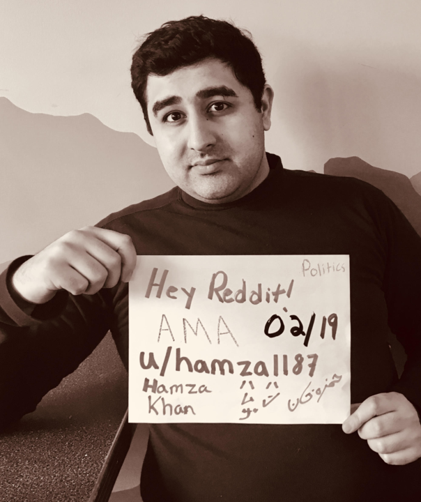 "Reddit's AMA policy requires an interviewee provide ""Proof of Life"" to confirm the person actually agreed to do an AMA. Above is my photo. Notice that I wrote my name in English, Japanese and Persian (Farsi)."