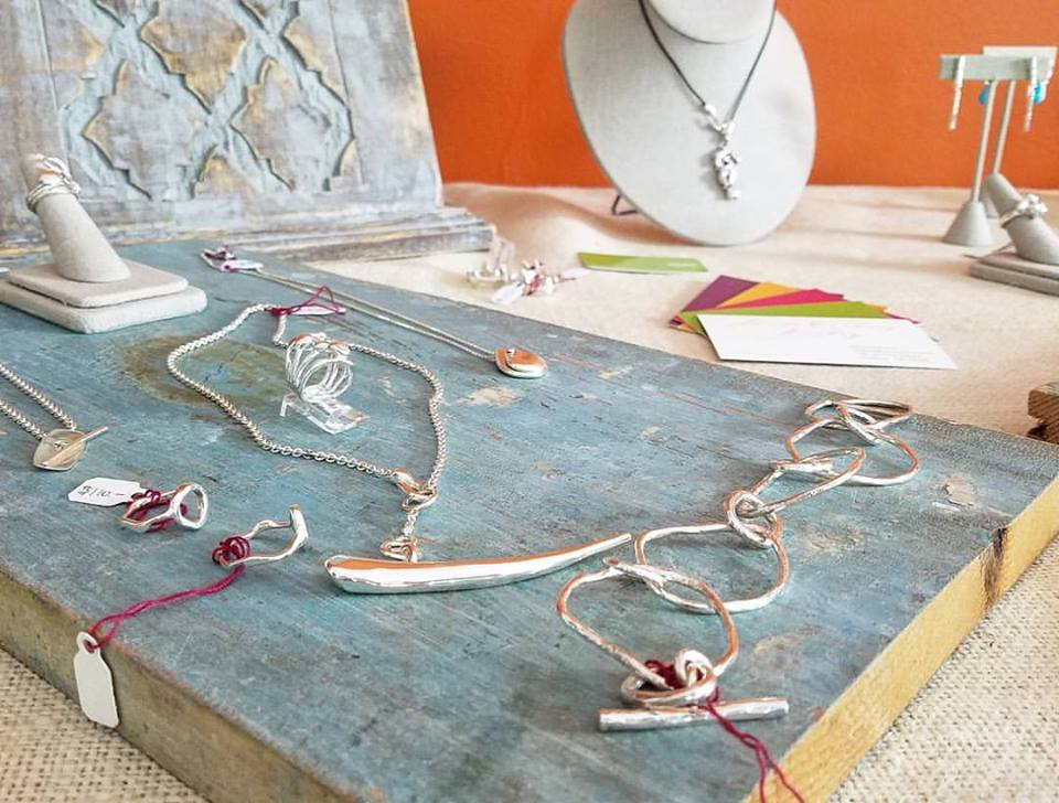 I also bought some earrings at Sheila Corkery's open studios showing -- with my hard earned money!
