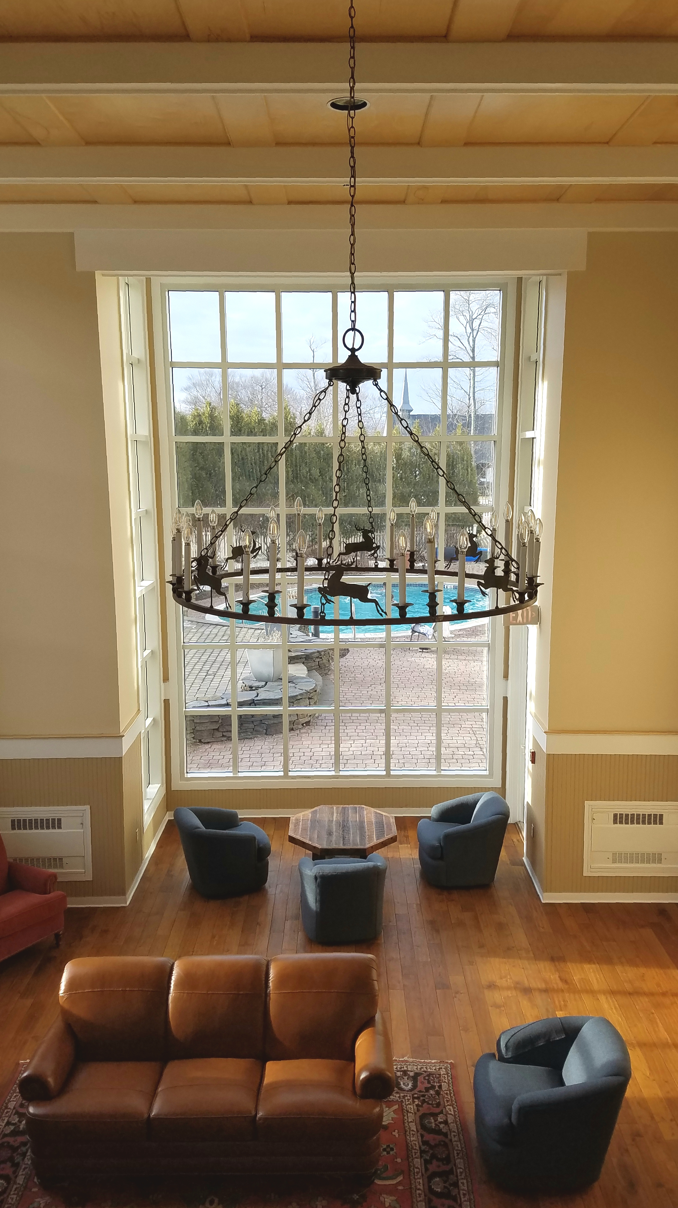While Jon and Violet headed to the outdoor (heated) pool I was mostly obsessing over this chandelier.
