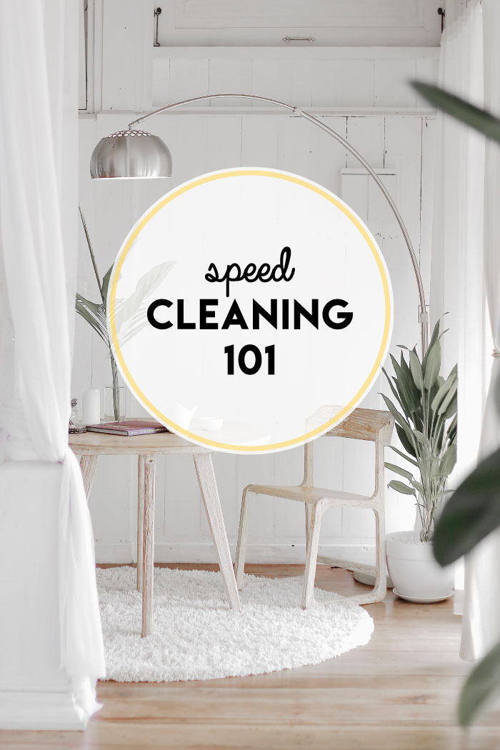 Cleaning your home doesn't have to be super involved or time consuming. Use these speed cleaning 101 tips to get the job done!
