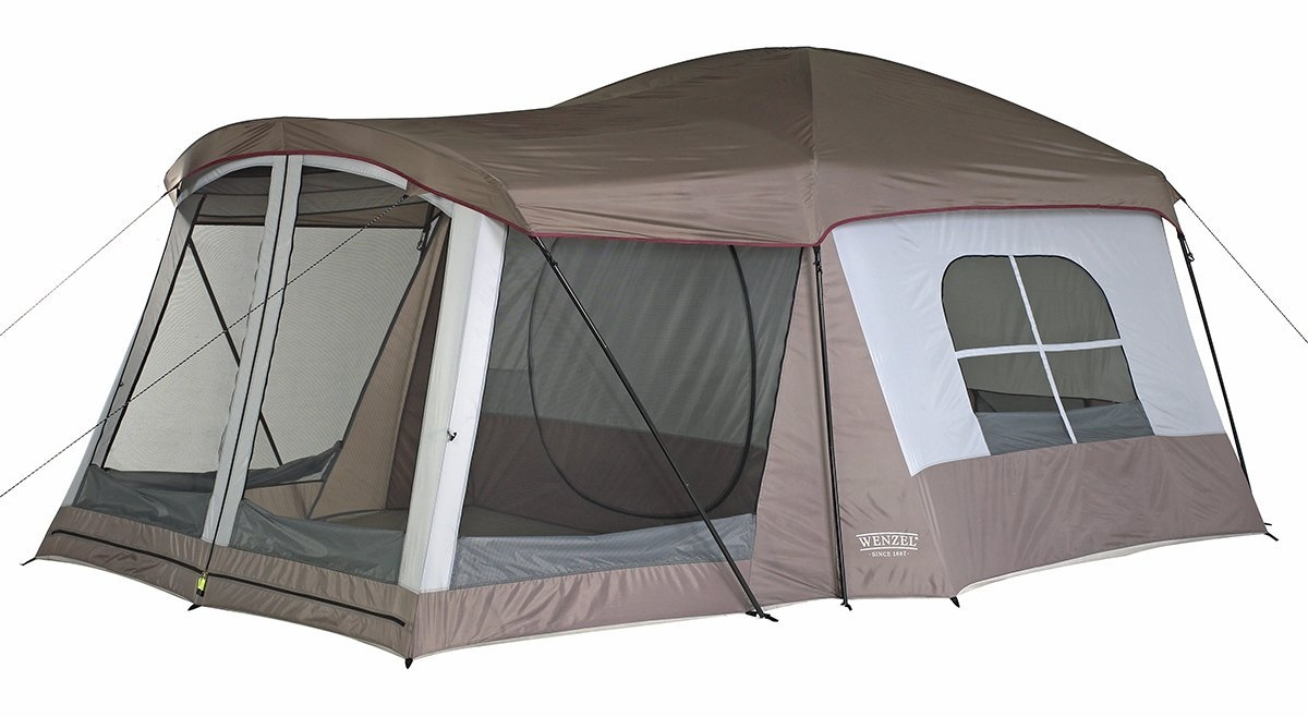 One of the beauties of car camping is you can bring a big tent!