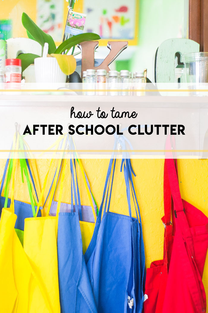Simple steps for taming school clutter